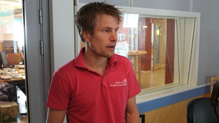 Björn Laid, idrottskonsulent på Hallands skolidrottsförbund. Foto: Henrik Martinell / Sveriges Radio