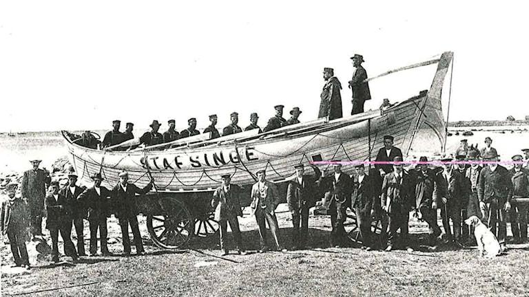 Stafsinges första livbåt från 1906 hette Anna Wallenberg och var en roddbåt.