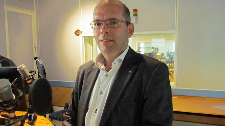 Carl-Fredrik Graf (M). Foto: Sveriges Radio