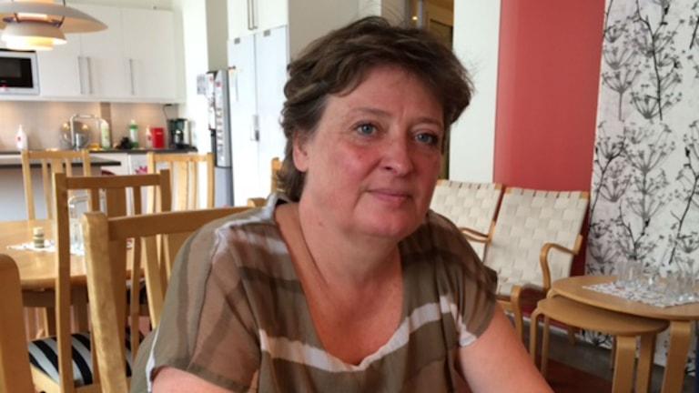 Anette Sjöberg, regionansvarig för Världens Barn i Halland