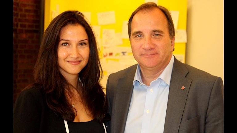 Aida Hadzialic,  minister i Stefan Löfvens regering. Foto: Pressbild/Mathias Sörensen