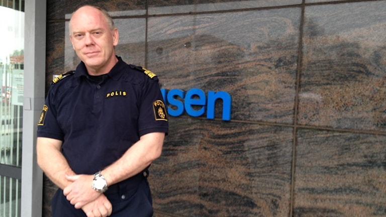 Mats Palmgren, polischef för område Halland. Foto: Sveriges Radio