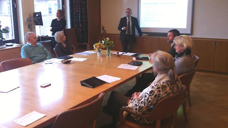 Femklövern + presenterade sin budget idag. Foto: Muhamed Ferhatovic SR Halland.