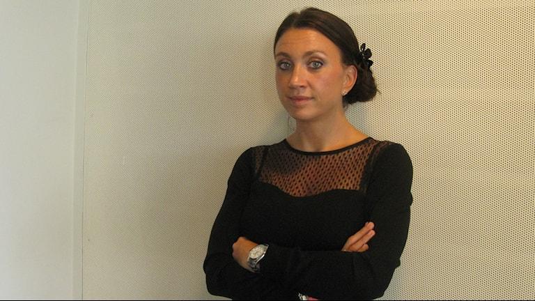 Deckardrottningen Camilla Läckberg. Foto Ann Jornéus/Sveriges Radio