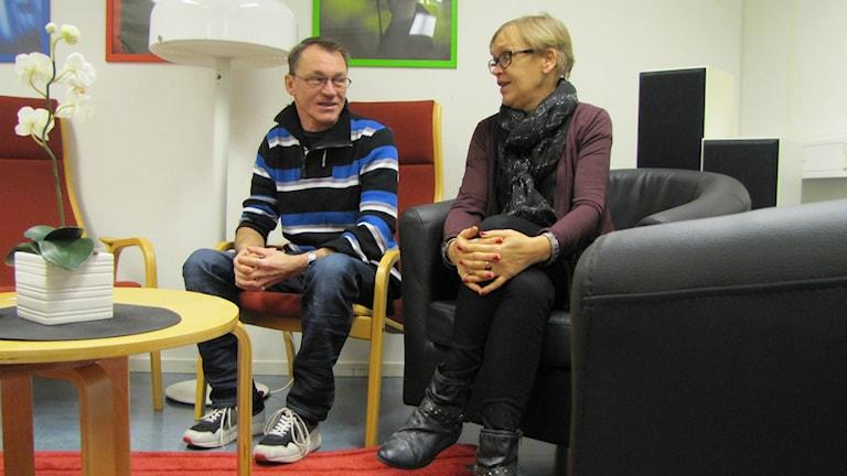 Sven Fogelström och Maritha Johansson. Foto: Henrik Martinell / Sveriges Radio