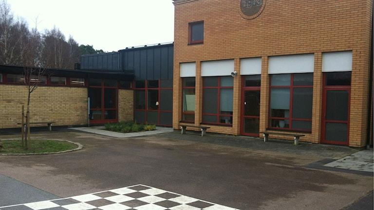 Jutarumsskolan i Halmstad är hårdast drabbad. Foto: Muhamed Ferhatovic /SR