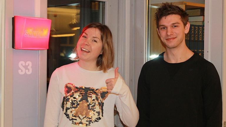 Tove Brosché och Jens Svensson. Foto: Andreas Svensson/Sveriges Radio