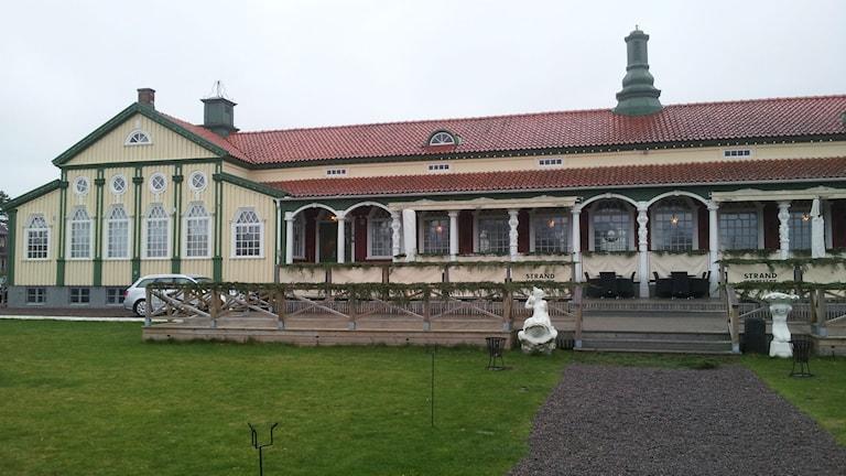 Strandhotellet i Mellbystrand har en osäker framtid. Foto: Marie Sjöberg / Sveriges Radio