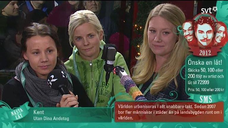 Anna Pettersson, Jenny Damm och Cecila Blomster när dom lämnade sitt bidrag för några år sedan. Foto: SVT