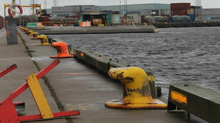 Halmstad hamn, kajkant. foto: Henrik Martinell