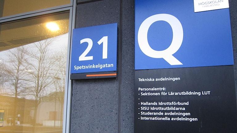 Nya önskas in till lärarutbildningen på Högskolan. foto: Göran Frost/P4 Halland