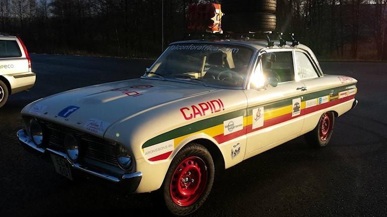 En Ford falcon från 1960 ska ta Rolf och Rutger 900 mil. Foto: Rutger Andersson.