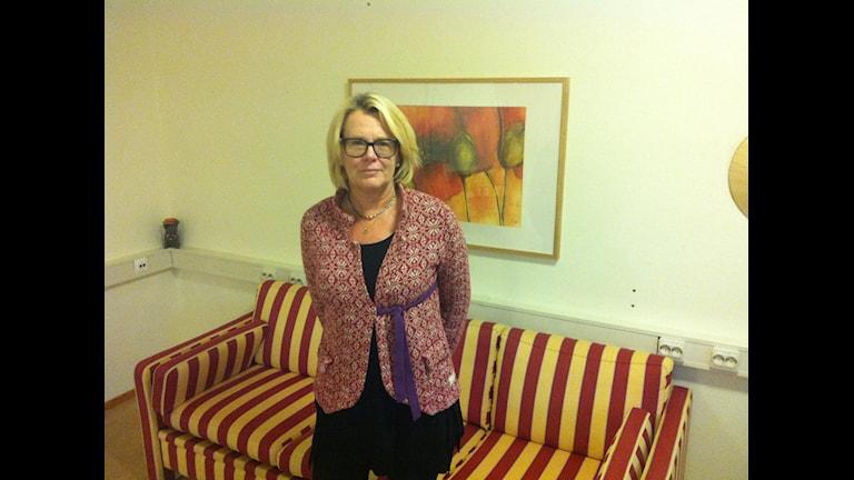 Christina Bengtsson enhetschef på familjehemsenheten. Foto: Muhamed Ferhatovic SR Halland.