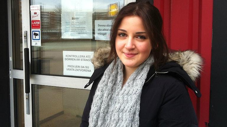 Lamija Sljivo, ordförande för den Bosnisk-muslimska föreningen i Halmstad. Foto: M Ferhatovic SR Halland.