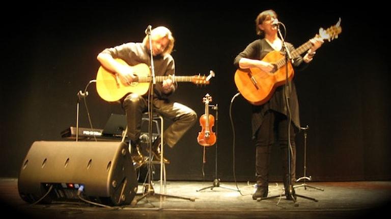 Greger Siljebo och Eva Bartholdsson. Foto: Arkiv/Sveriges Radio