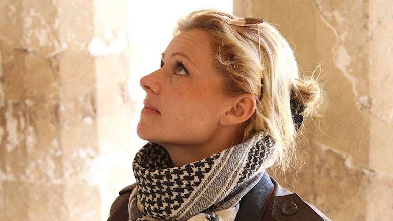 Maria Nilsson arkeolog från Halmstad har gjort sensationella fynd i Egypten. Foto: privat