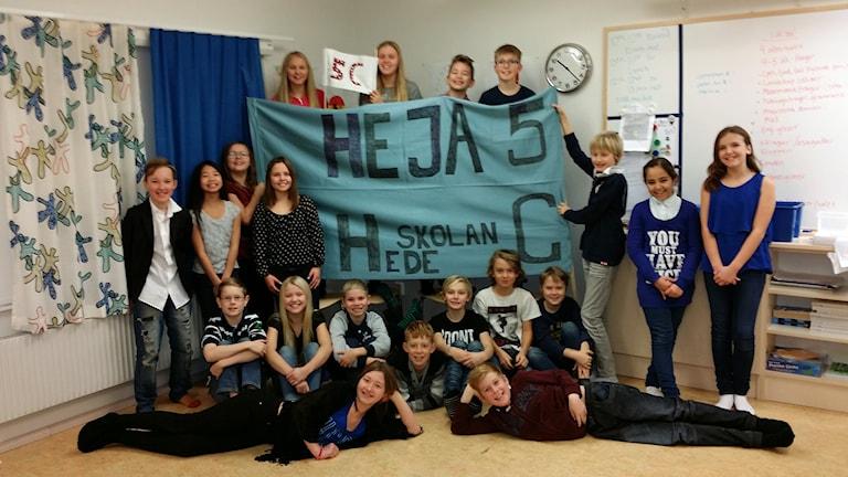 Hedeskolan 5C. Foto: Privat