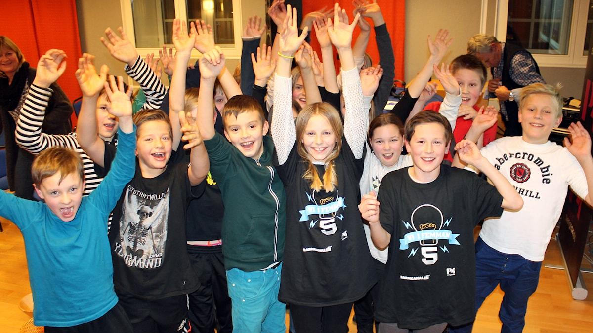 Apelskolan vann tredje kvartsfinalen. Foto: Sveriges Radio