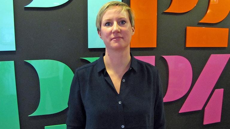 Therese Wallgren är brottsförebyggande samordnare i Halmstad. Foto: Peter Bengtsson/Sveriges Radio