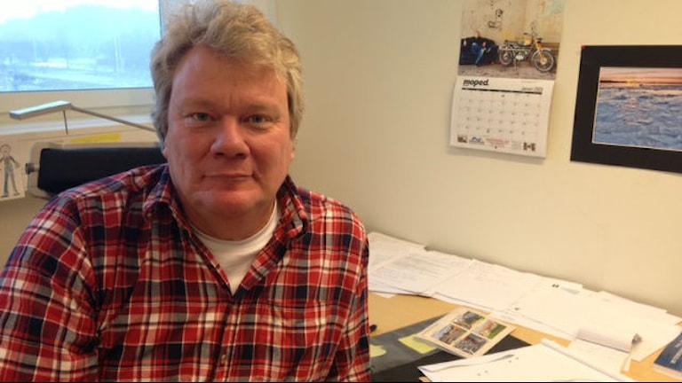 Håkan Cronelid rektor på Åsa Gårdsskola i Åsa, Kungsbacka. Foto: Sveriges Radio