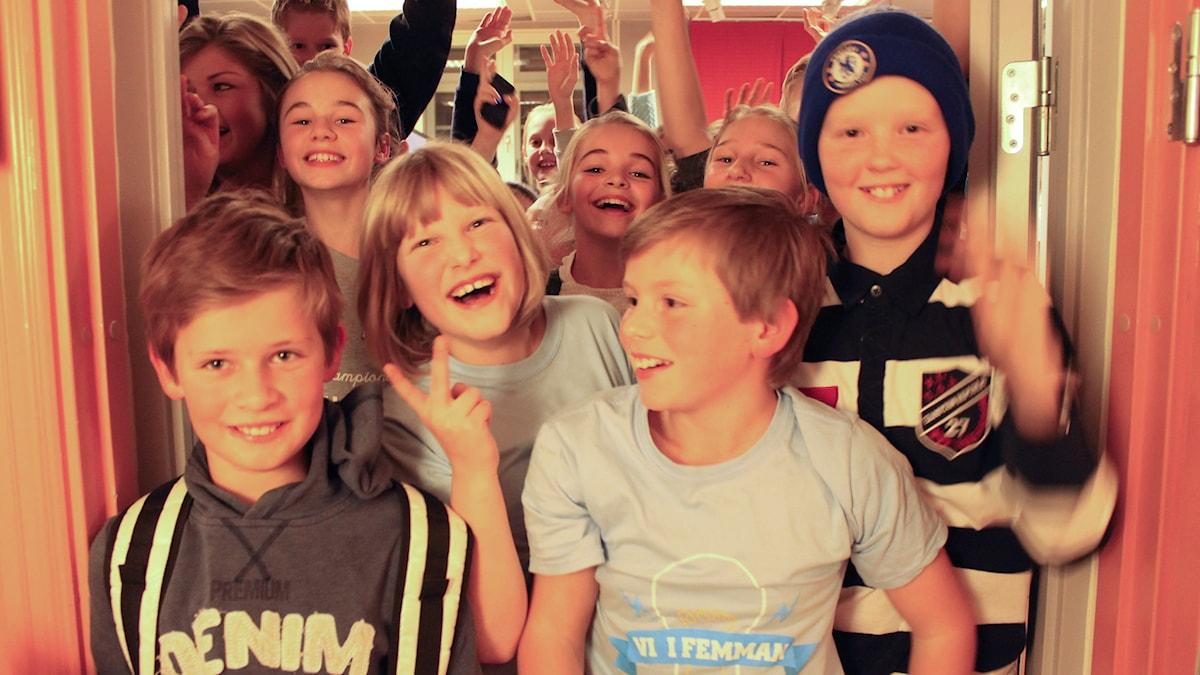 Fjordskolan vann semifinalen. Foto: Sveriges Radio
