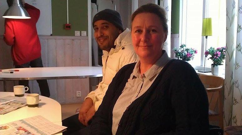 Tina Öhrqvist, ordförande knäreds samhällsförening. Foto: M Ferhatovic SR Halland.