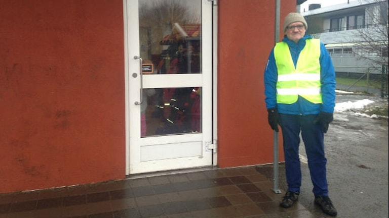 Rune Davidsson är rastfadder på Buaskolan. Foto: Sveriges Radio