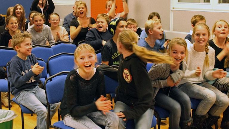 Fjordskolan vann länsfinalen! Foto: Sveriges Radio