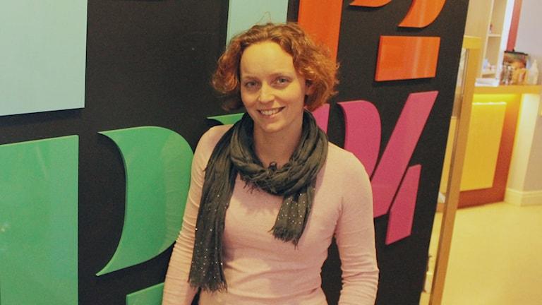 Jennifer Erlandsson är publikredaktör på P4 Halland. Foto: Mattias Bolin