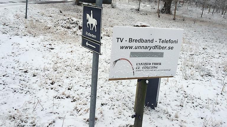 Unnaryds fiberförenng har lagt ner många timmar för att ordna fiber till landsbygden. Foto: Mattias Bolin/Sveriges Radio.