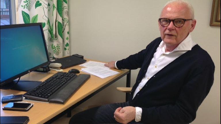 Erland Linjer (M) socialnämndens ordförande Varbergs kommun. Foto: Sveriges Radio