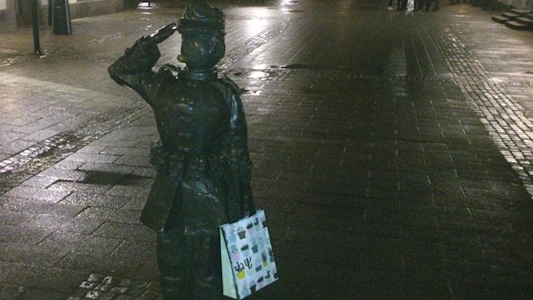 Statyprotest i Halmstad