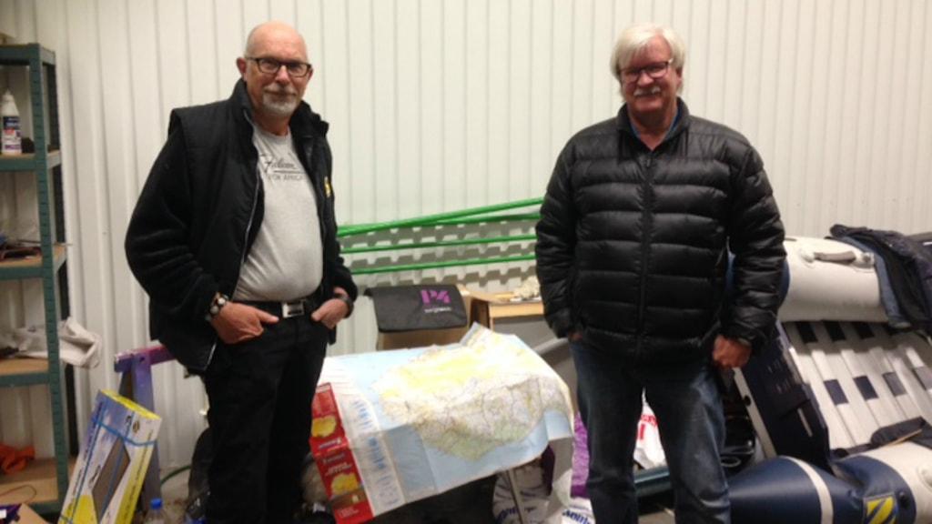 Rutger Andersson och Rolf Sjöstrand är hemma igen efter sitt äventyr i Afrika. Foto: Andreas Svensson/Sveriges radio