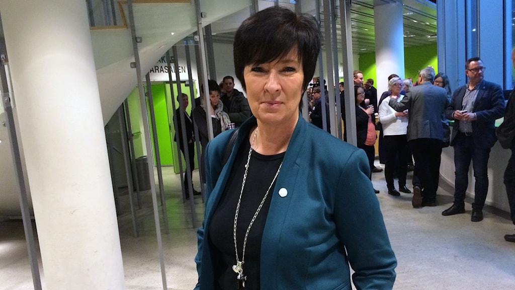 Mona Sahlin är regeringens nationella samordnare mot våldsbejakande extremism. Foto: Mattias Bolin/Sveriges Radio
