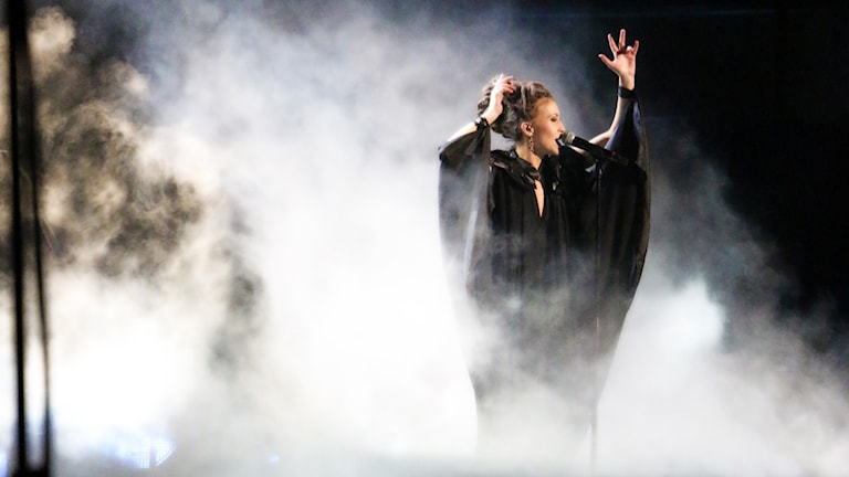 Mariette Hansson slutade som trea i melodifestivalen. Foto: Ronnie Ritterland/Sveriges Radio