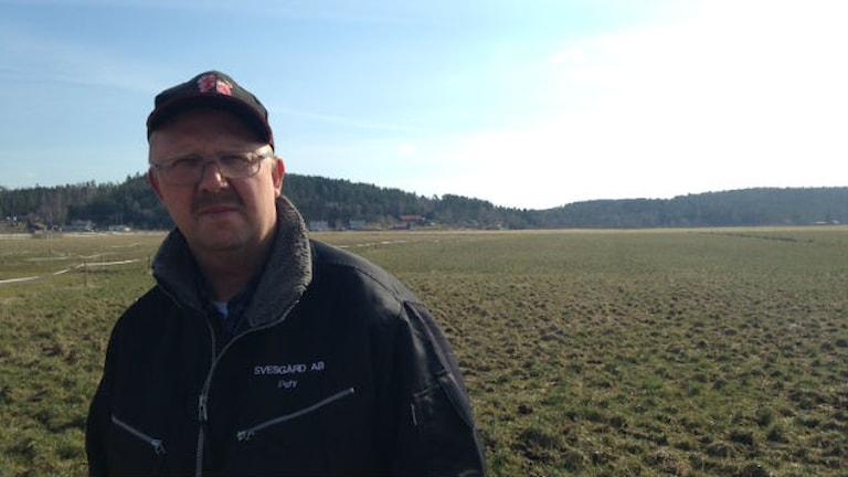 Pehr Hansson lantbrukare i Kungsbacka. Foto: Sveriges Radio