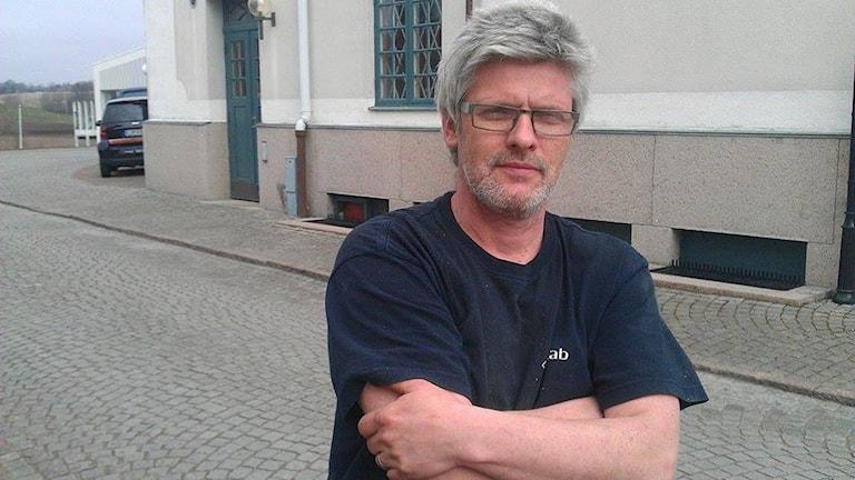 Magnus Olausson, jobbar inom Spelberoendes stödgrupp i Halmstad. Foto: Muhamed Ferhatovic/Sveriges Radio