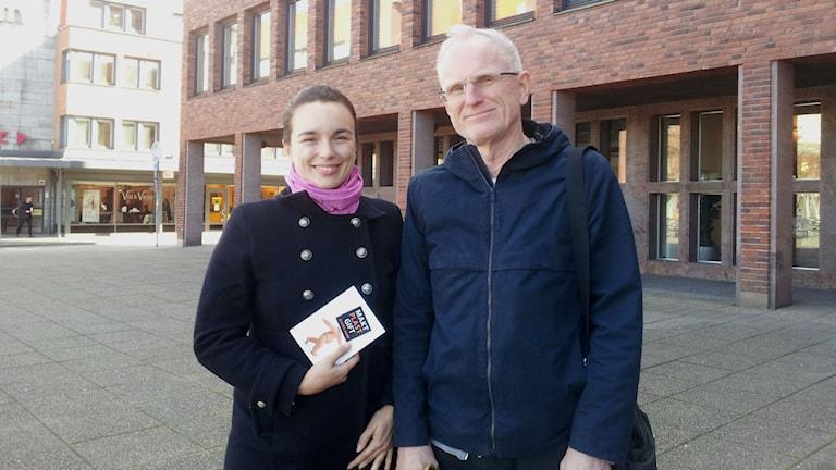 """Kristina Henriksson och Anders Börjesson från projektet """"Giftfri vardag för barn och ungdomar"""". Foto: Sveriges Radio"""