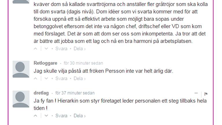 Många har hört av sig till P4 Halland om missförhållanden på företaget Retlog. Foto: Skärmdump