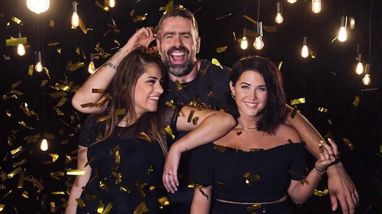 Molly Sandén, Kalle Zackari Wahlström och Farah Abadi är årets programledare för P3:s Musikhjälpen.