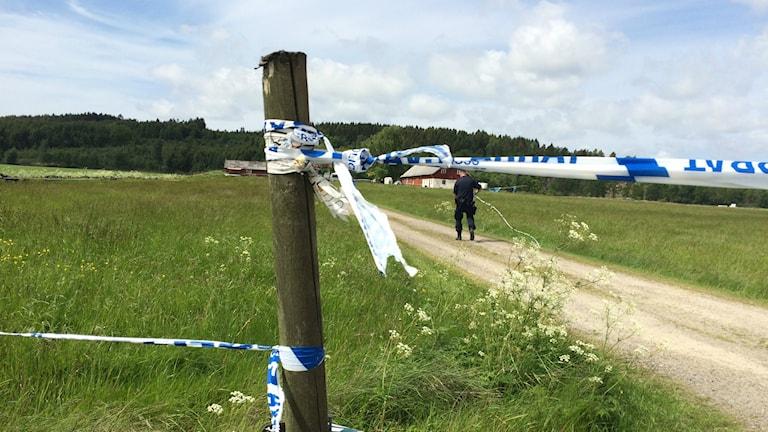 Polisen utreder just nu det mord som skredde utanför Varberg. Foto: Mattias Bolin / Sveriges Radio