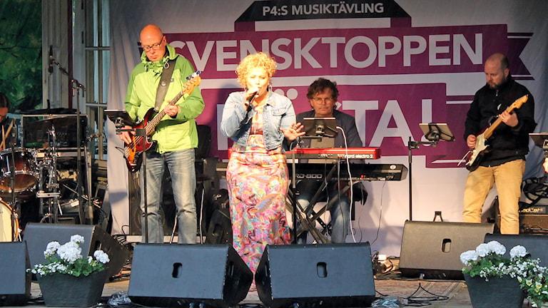Laila Adèle vann finalen av Svensktoppen Nästa. Foto: Therése Alhult/Sveriges Radio