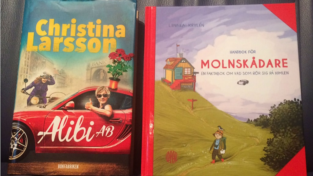 Ulrika Larsson tipsar om Christina Larssons Alibi AB och Handbok för molnskådare. Foto: Sveriges Radio.