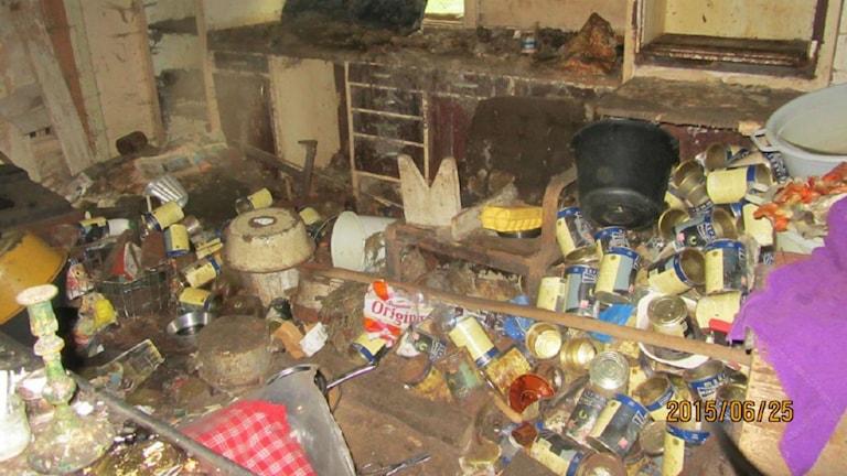 Kvinnans hus var i stor oordning. Foto: Länsstyrelsen
