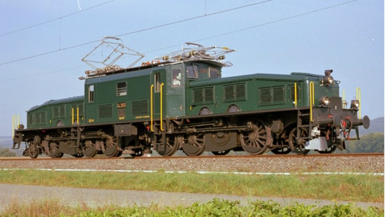 "Det tunga godstågsloket ""Krokodilen"". Foto: SBB Historic"