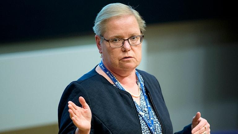 Eva Halldén, vd för Ringhals. Foto: Adam Ihse/TT.