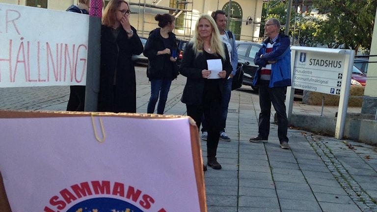 Camilla Schultz, grundare av Tillsammans för Kungsbacka. Foto: Sveriges Radio