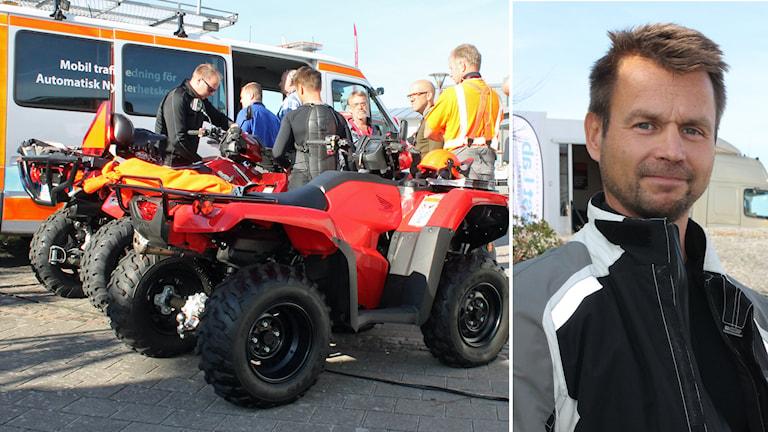 lof Stenlund på Transportstyrelsen presenterade förslaget om körkort för alla fyrhjulingar på Tylösandsseminariet i Halmstad. Foto: Henrik Martinell/Sveriges Radio
