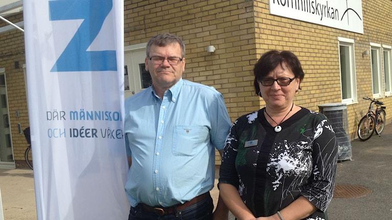 Håkan Wahlin och Vesna Bader från NBV. Foto Ferhatovic SR Halland.