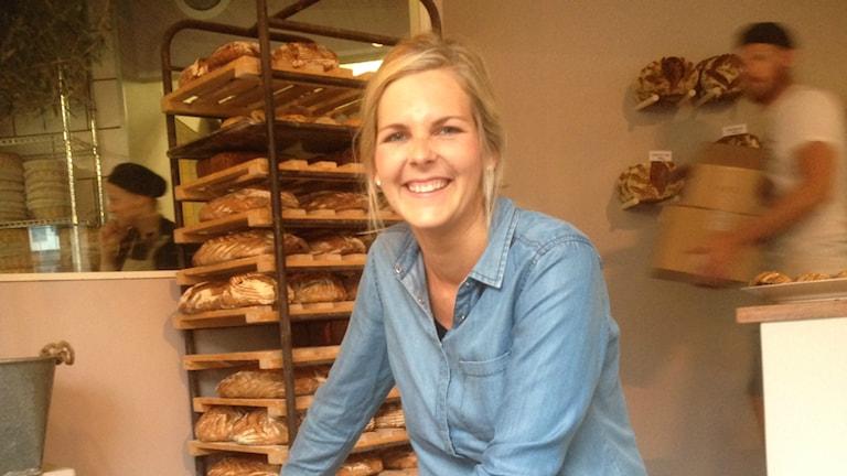 My Feldt från Halmstad kan bli årets Dessertmästare. Foto: Andreas Svensson/Sveriges radio